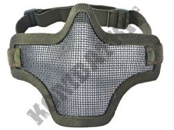 Airsoft Mask Wire Mesh Lower Half Face Safety Protector Green